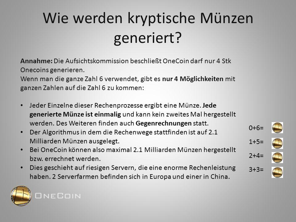 OneCoin hat eine kleinere Stückelung als Bitcoin Limitierte Stückzahl – deshalb ein stabiler Wert im Gegensatz zur konventionellen Währung 2,1 Milliarden OneCoins (erst 540 Mio., also ca.