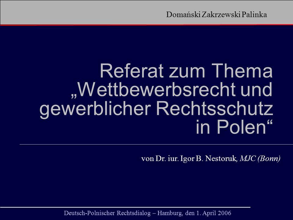 Domański Zakrzewski Palinka Deutsch-Polnischer Rechtsdialog – Hamburg, den 1.