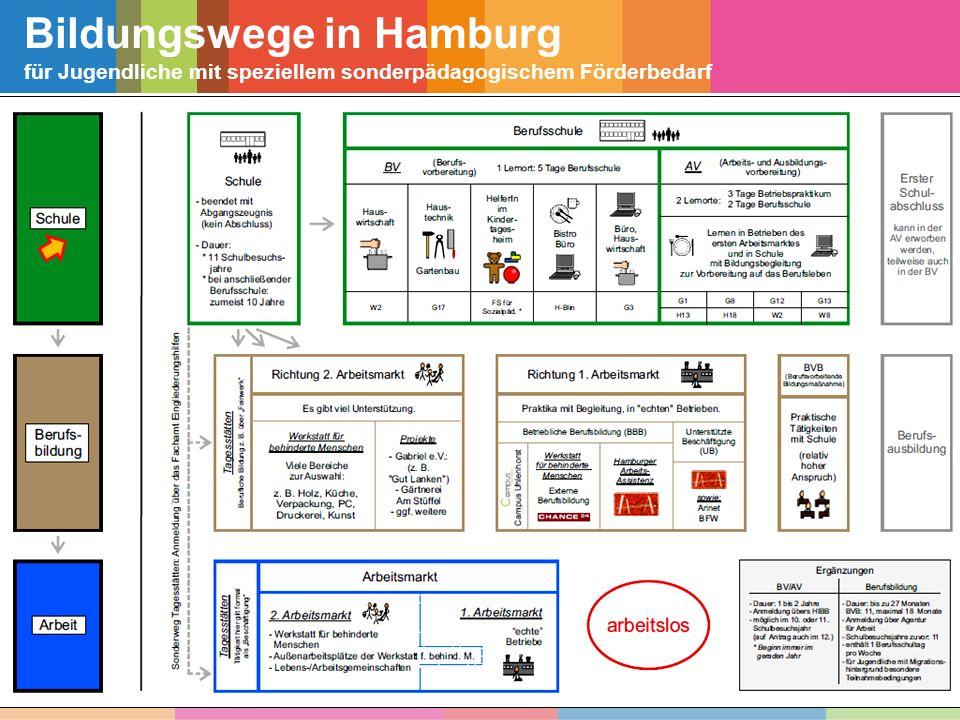 Bildungswege in Hamburg für Jugendliche mit speziellem sonderpädagogischem Förderbedarf