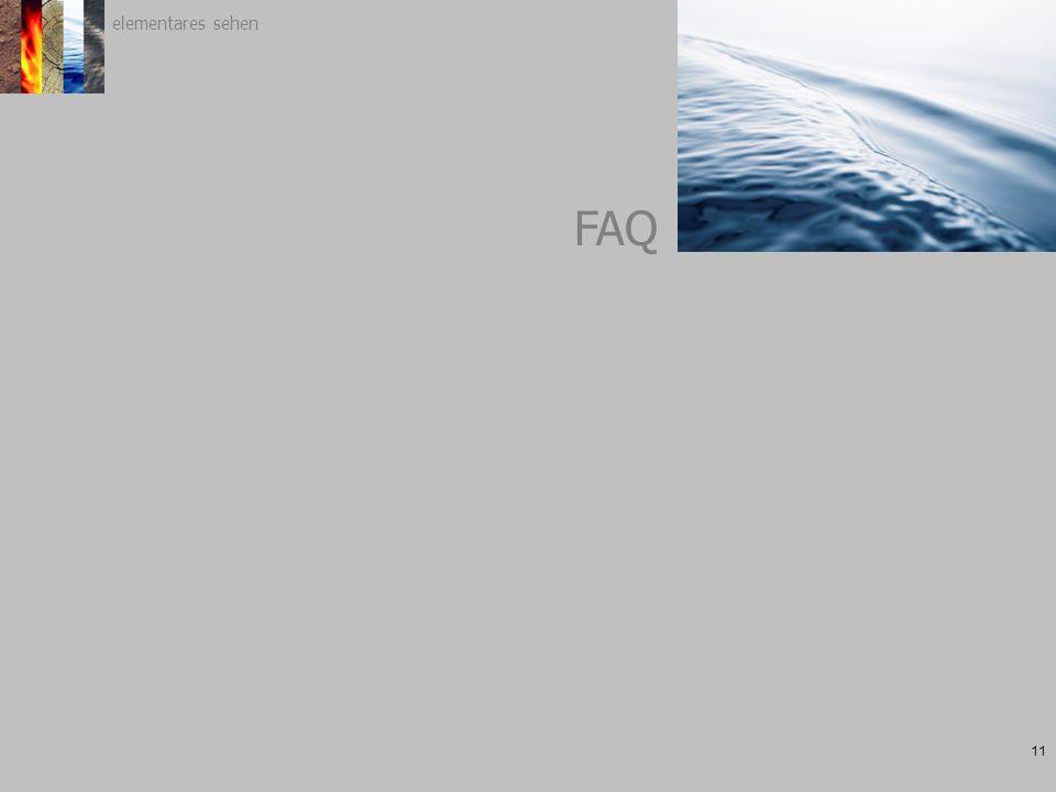 elementares sehen 11 FAQ