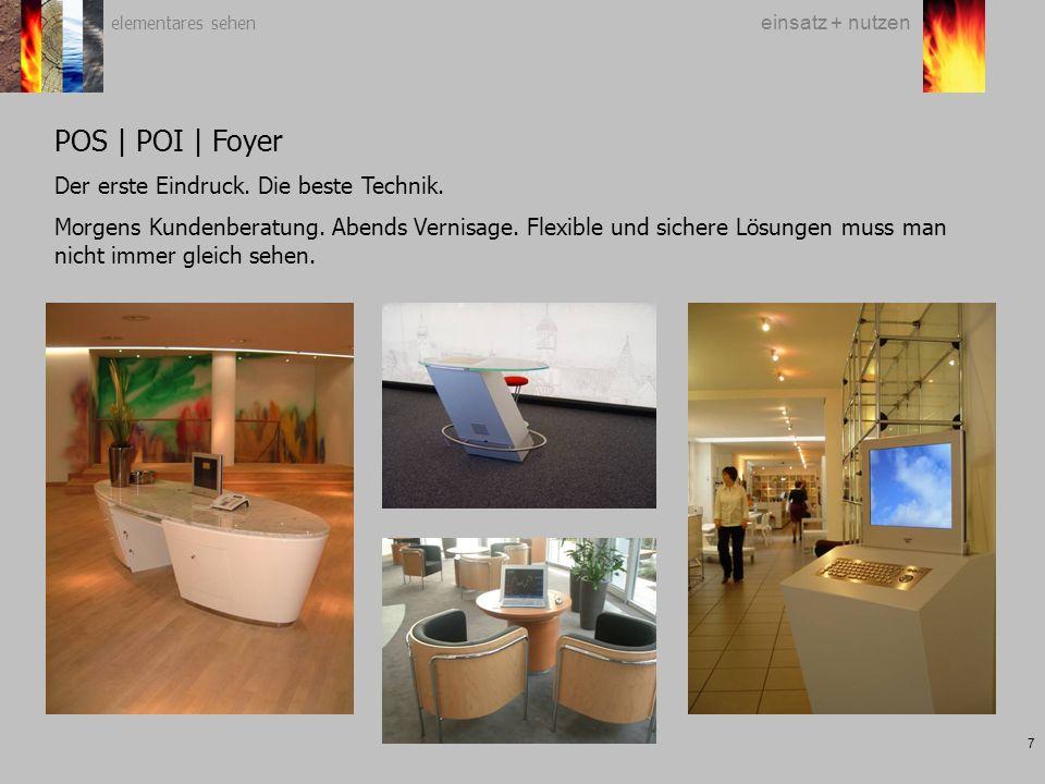 elementares sehen 7 einsatz + nutzen POS | POI | Foyer Der erste Eindruck.