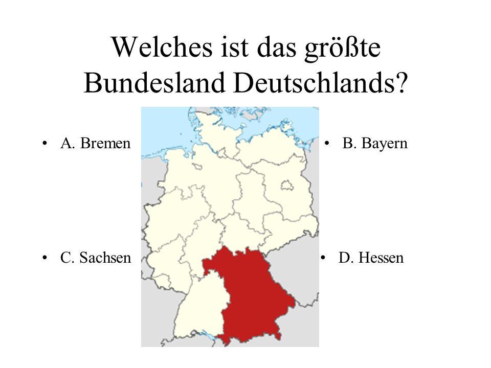 Welche Fläche nimmt Deutschland ein? A. 357 000 km²A. 357 000 km²