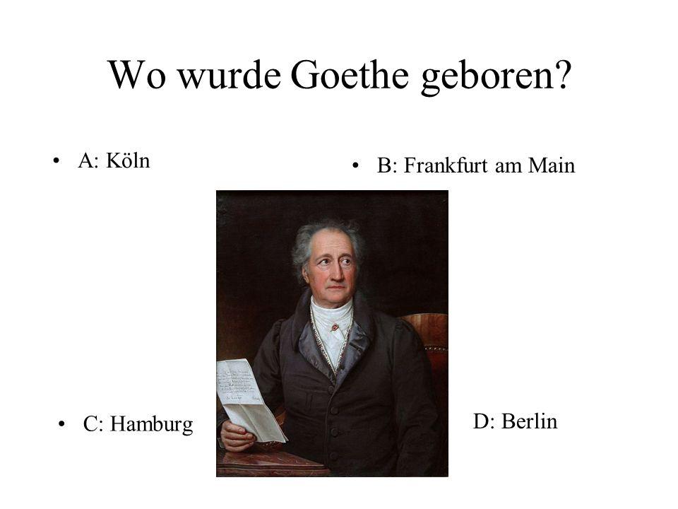 """Wer hat """"Erlkönig geschrieben D. J.W. Goethe"""