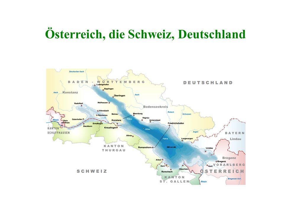 Welche drei Länder begrenzen den Bodensee