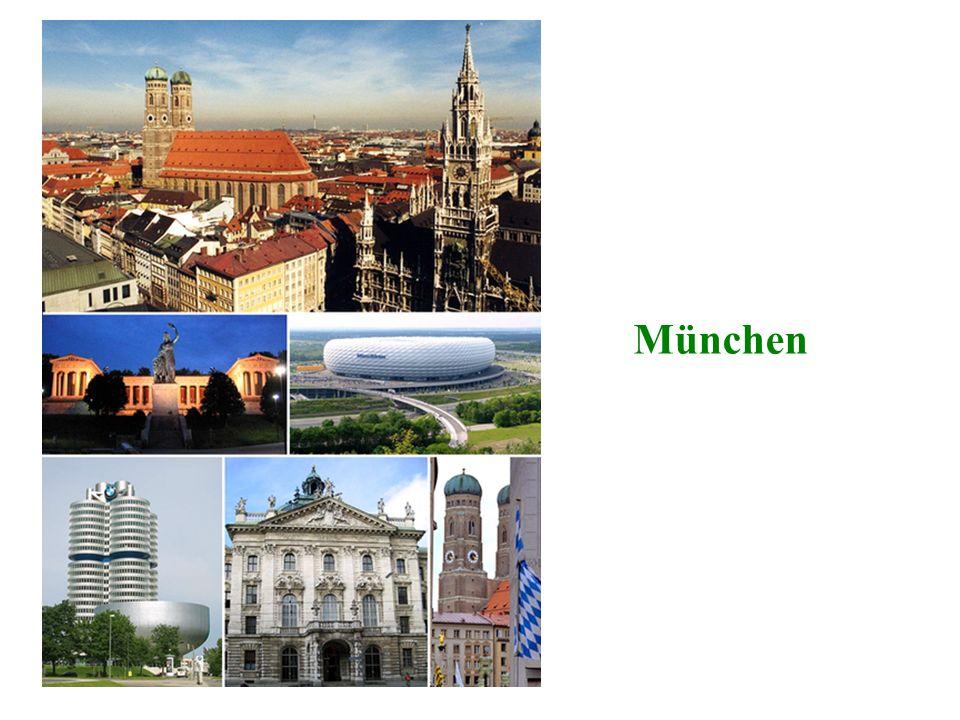Wie heißt dieses Stadt? o 2 Die Mönche o in Bayern o das Oktoberfest o die Olympiade 1972 o die Frauenkirche