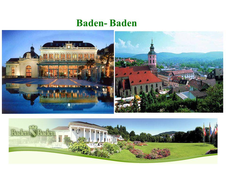 Die Stadt ist ein weltbekannter Kurort und heute vor allem als Bäderstadt, Mineralheilbad, Urlaubsort, Medien- und Kunststadt sowie internationale Fes