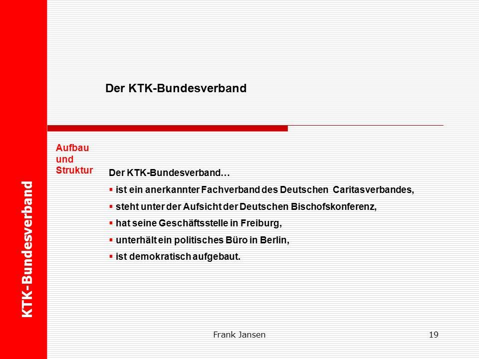 Frank Jansen KTK-Bundesverband Der KTK-Bundesverband Die Zukunft lernt im Kindergarten 18