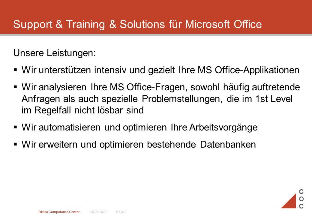 Support & Training & Solutions für Microsoft Office  Wir trainieren und coachen Sie via Telefon und/oder vor Ort  Wir unterstützen Sie beim Wissenstransfer, z.B.