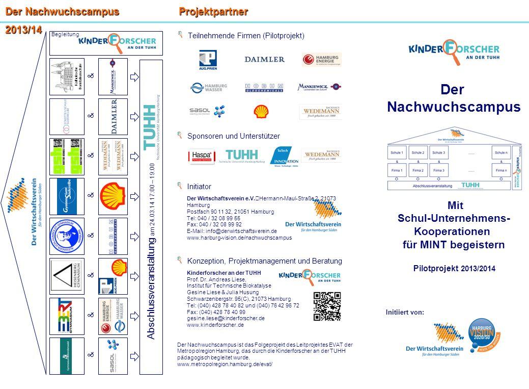 Sponsoren und Unterstützer Initiator Der Wirtschaftsverein e.V. Hermann-Maul-Straße 2, 21073 Hamburg Postfach 90 11 32, 21051 Hamburg Tel: 040 / 32 08