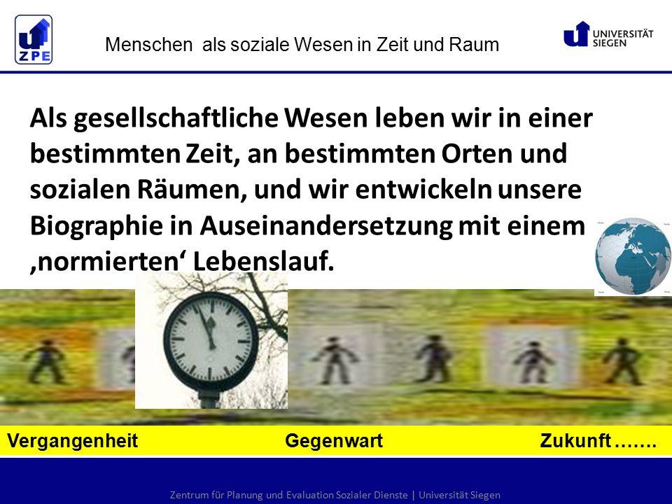 Zentrum für Planung und Evaluation Sozialer Dienste   Universität Siegen Vergangenheit Gegenwart Zukunft ……….