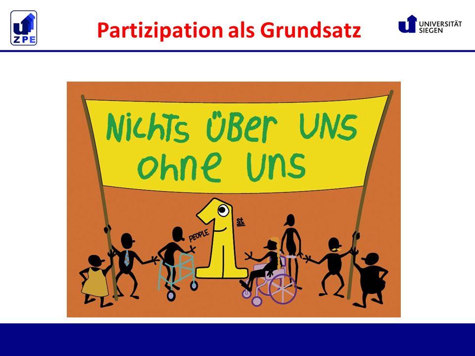 Partizipation als Grundsatz