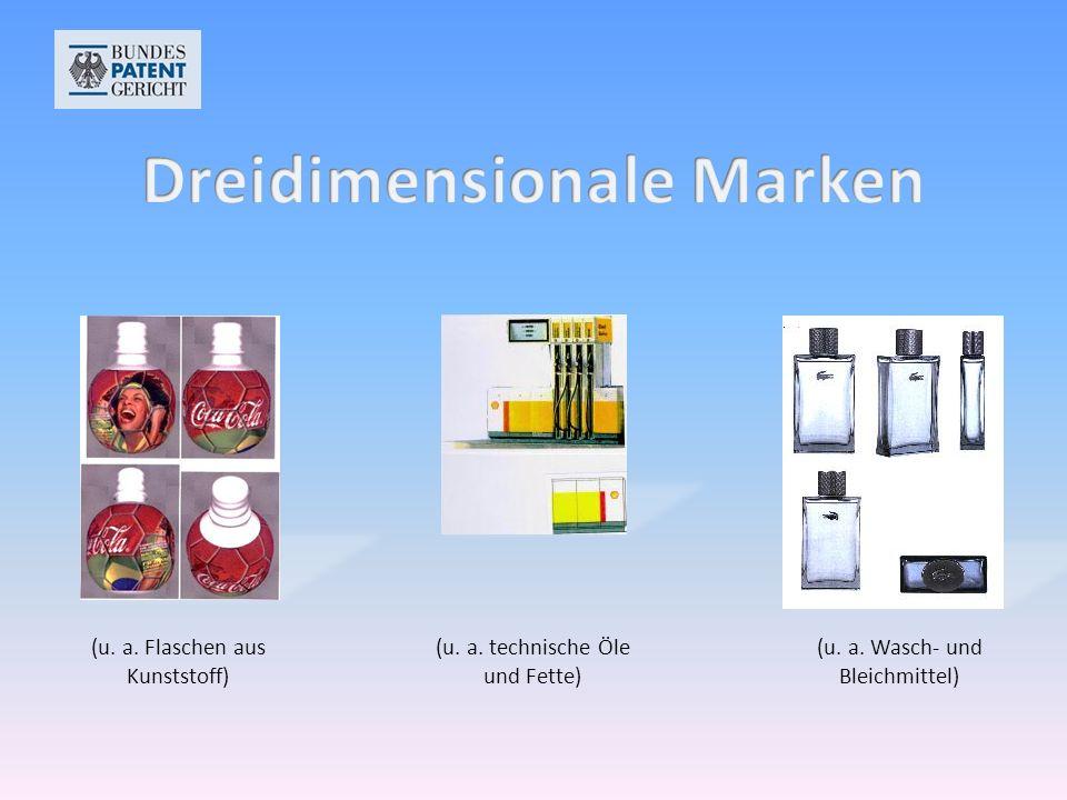 (u. a. Flaschen aus Kunststoff) (u. a. technische Öle und Fette) (u. a. Wasch- und Bleichmittel)