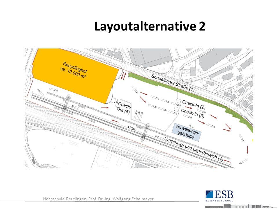 Hochschule Reutlingen; Prof. Dr.-Ing. Wolfgang Echelmeyer Layoutalternative 2
