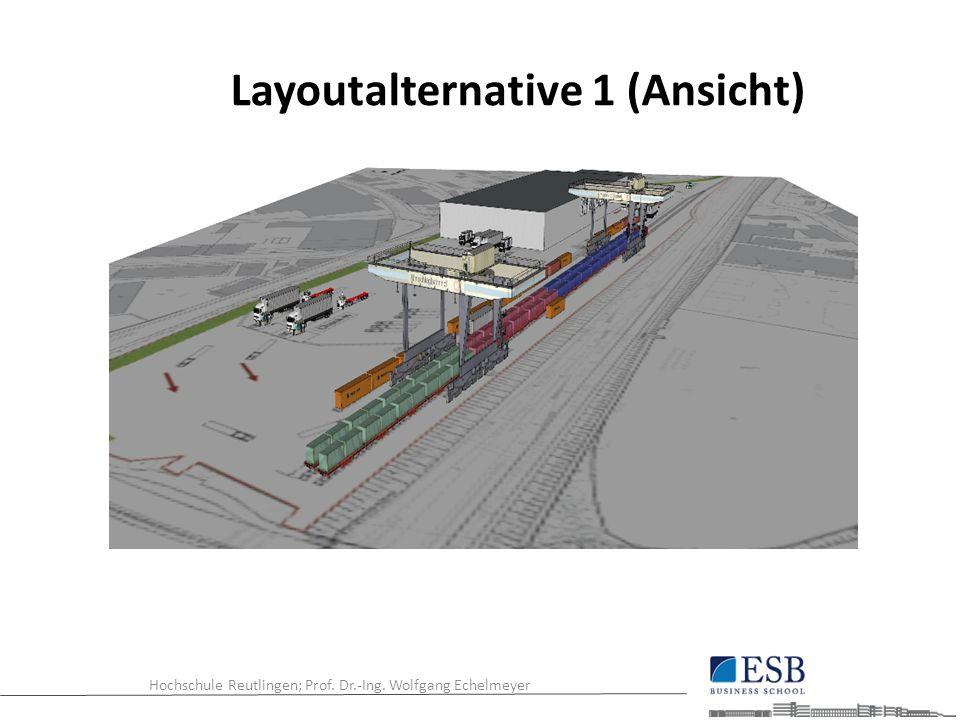 Hochschule Reutlingen; Prof. Dr.-Ing. Wolfgang Echelmeyer Layoutalternative 1 (Ansicht)