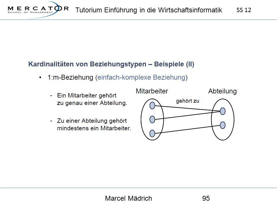 Tutorium Einführung in die Wirtschaftsinformatik SS 12 Marcel Mädrich95