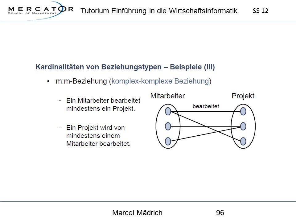 Tutorium Einführung in die Wirtschaftsinformatik SS 12 Marcel Mädrich96