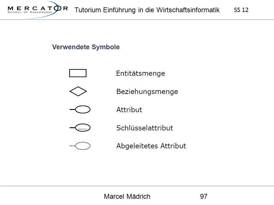 Tutorium Einführung in die Wirtschaftsinformatik SS 12 Marcel Mädrich97