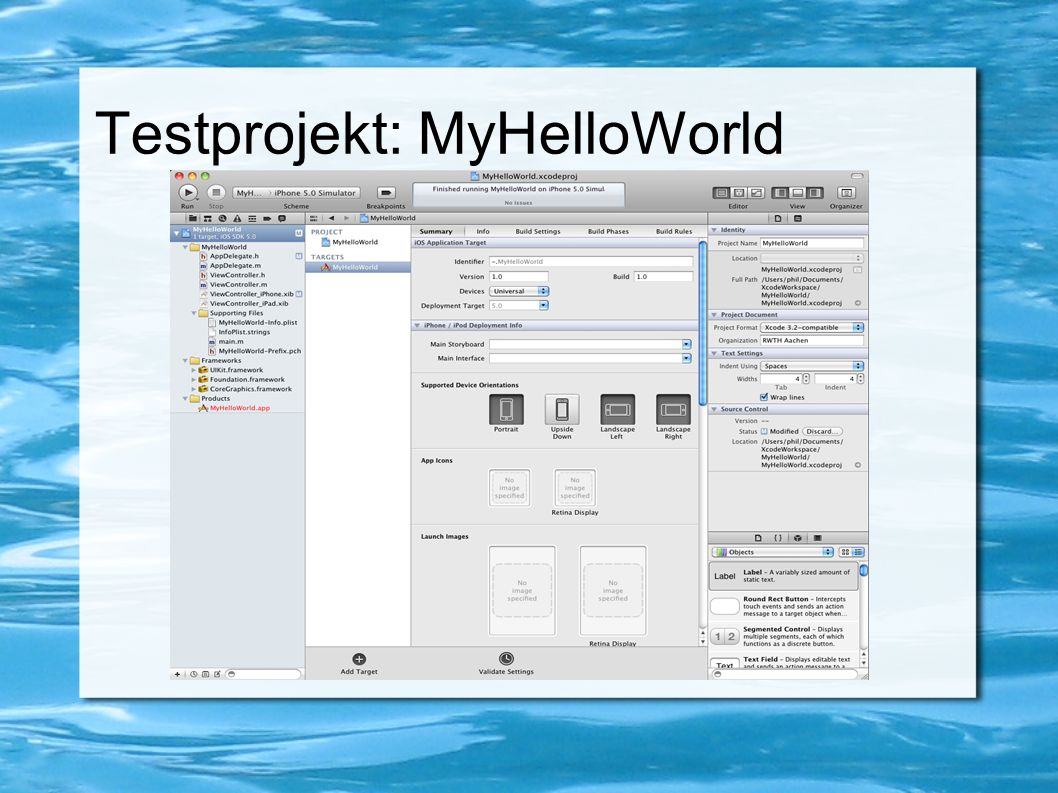 Testprojekt: MyHelloWorld