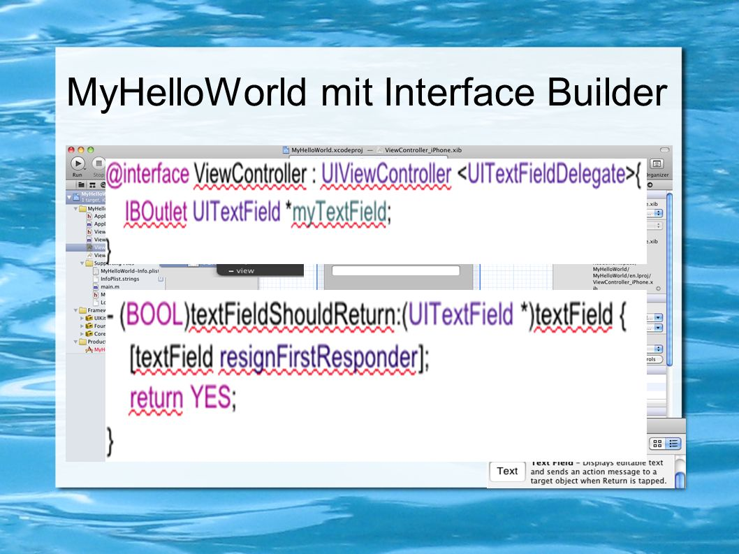 MyHelloWorld mit Interface Builder