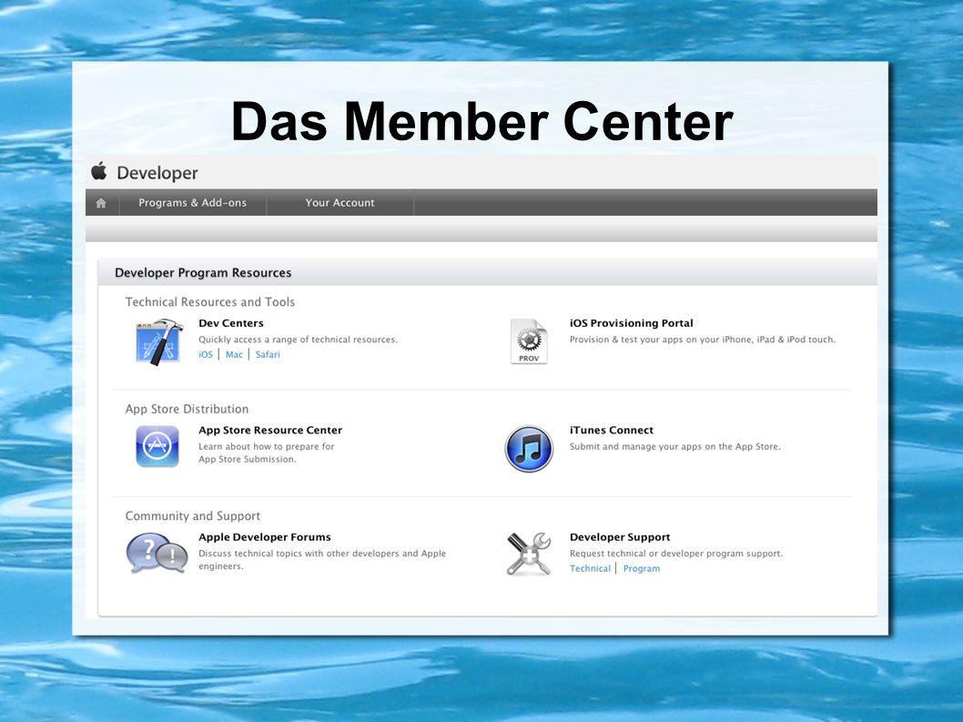 iOS- /Mac- /Safari Developer Center Entwicklungsumgebung iOS Developer Library Getting Started -Texte und -Videos Guides Beispielcode
