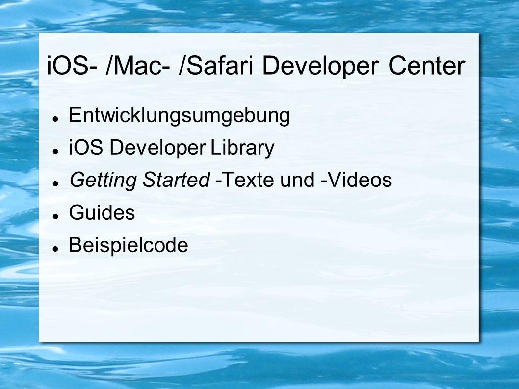 AppDelegate Verwaltet Lebenszyklus einer App Verwaltung externer Events: Anrufe, Push Notifications, öffnen anderer Apps...