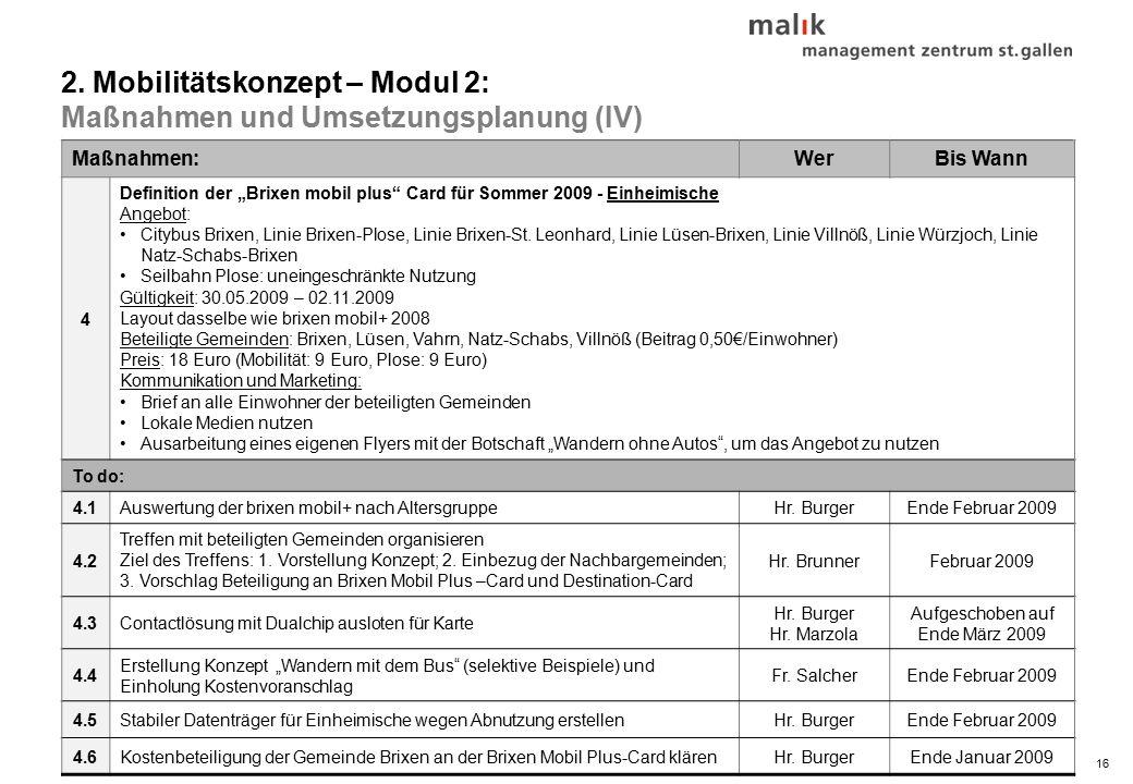 """16© malik-mzsg Maßnahmen:WerBis Wann 4 Definition der """"Brixen mobil plus Card für Sommer 2009 - Einheimische Angebot: Citybus Brixen, Linie Brixen-Plose, Linie Brixen-St."""