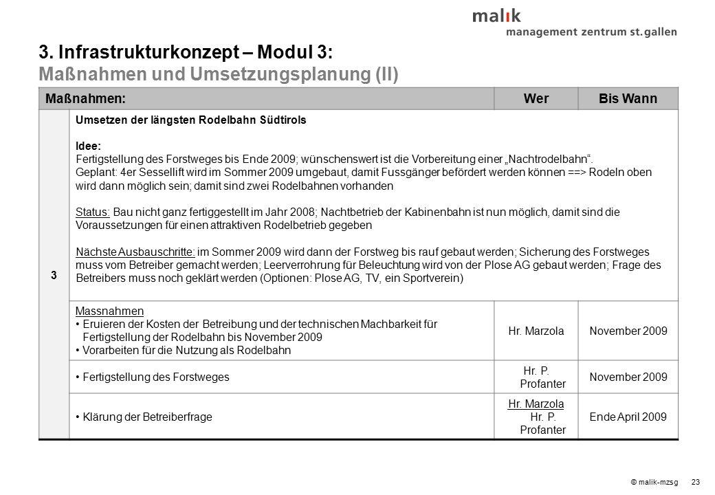 """23© malik-mzsg Maßnahmen:WerBis Wann 3 Umsetzen der längsten Rodelbahn Südtirols Idee: Fertigstellung des Forstweges bis Ende 2009; wünschenswert ist die Vorbereitung einer """"Nachtrodelbahn ."""