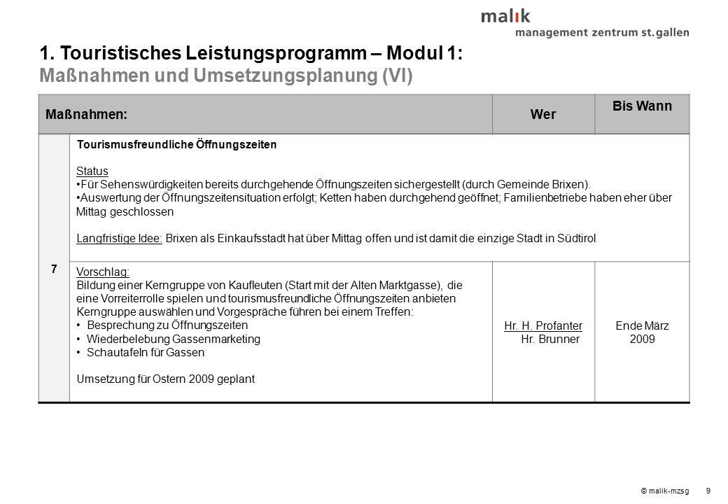 © malik-mzsg9 Maßnahmen:Wer Bis Wann 7 Tourismusfreundliche Öffnungszeiten Status Für Sehenswürdigkeiten bereits durchgehende Öffnungszeiten sichergestellt (durch Gemeinde Brixen).