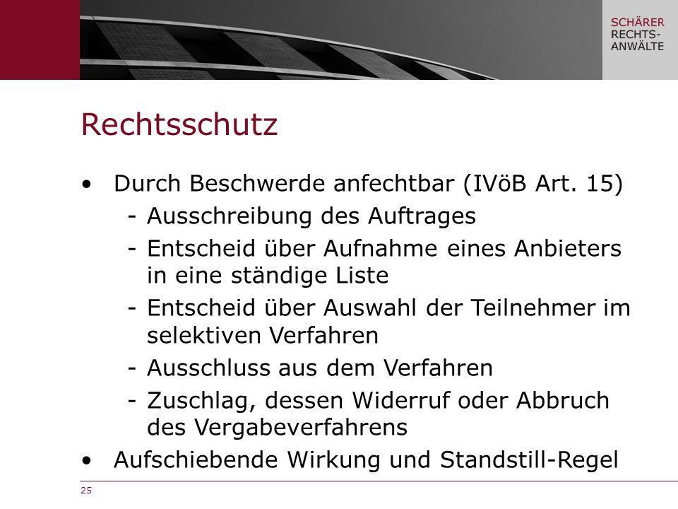 25 Rechtsschutz Durch Beschwerde anfechtbar (IVöB Art.