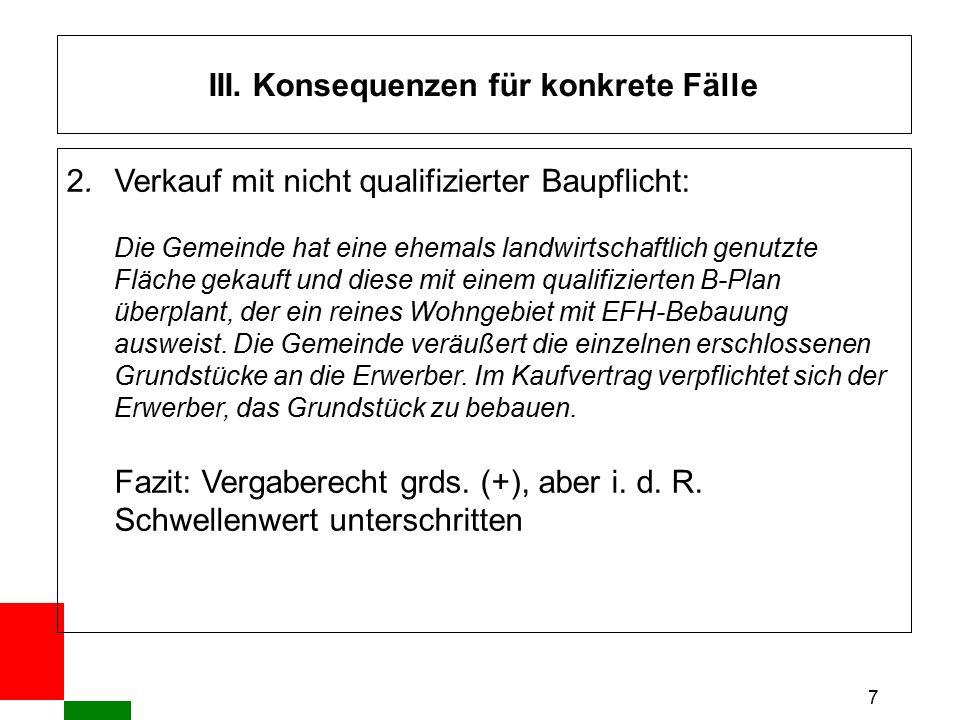 """18 IV.Verfahrensfragen Ausgewählte Probleme: 1.Problem der """"Ausschreibungsreife i."""