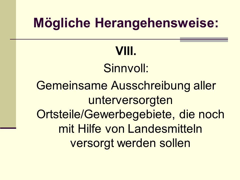 Mögliche Herangehensweise: VIII.