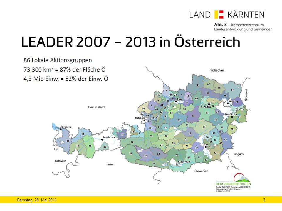 3 LEADER 2007 – 2013 in Österreich