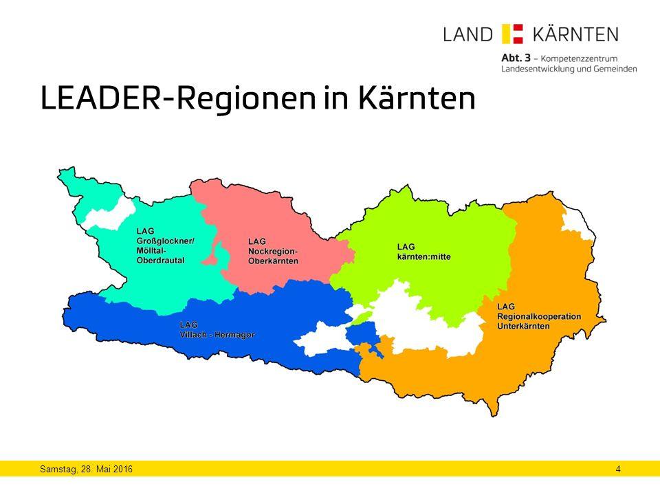 LEADER-Regionen in Kärnten Samstag, 28. Mai 20164