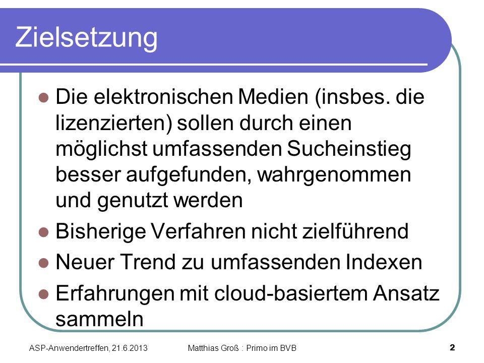 Zielsetzung Die elektronischen Medien (insbes.