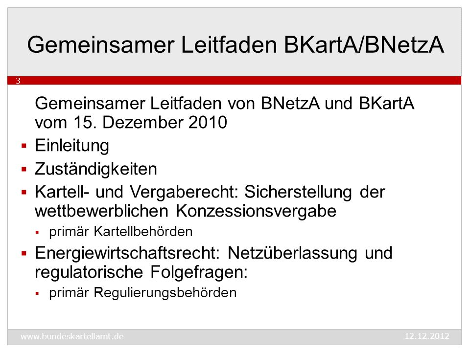 Gemeinsamer Leitfaden von BNetzA und BKartA vom 15.