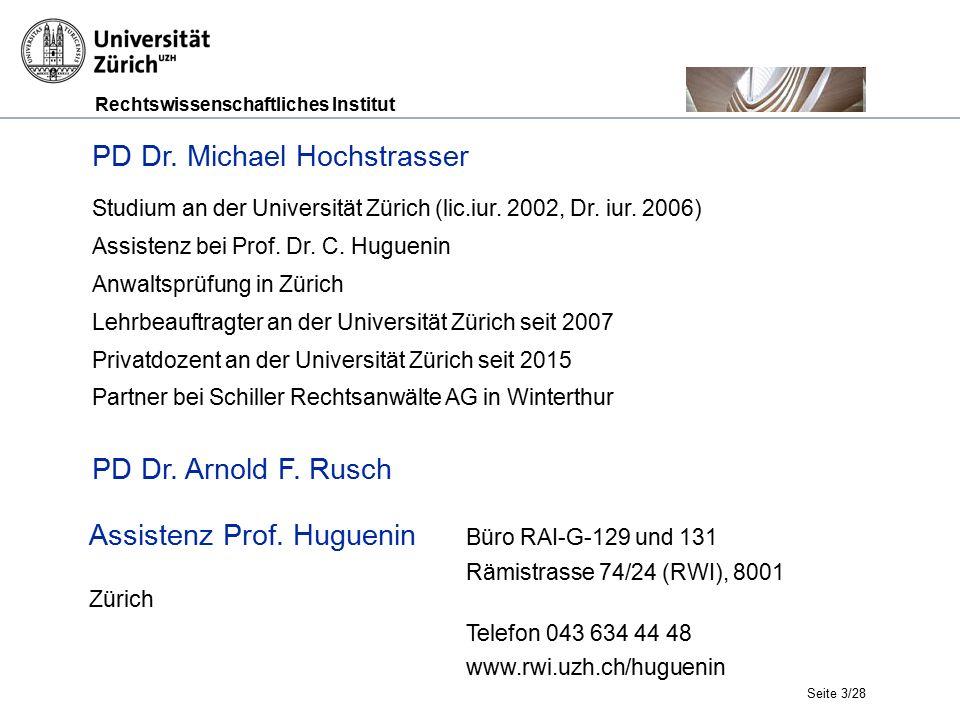 Rechtswissenschaftliches Institut Seite 3/28 PD Dr.