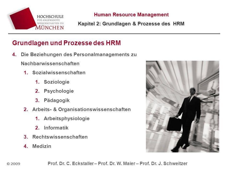 © 2009 Prof. Dr. C. Eckstaller – Prof. Dr. W. Maier – Prof. Dr. J. Schweitzer Human Resource Management Kapitel 2: Grundlagen & Prozesse des HRM Grund