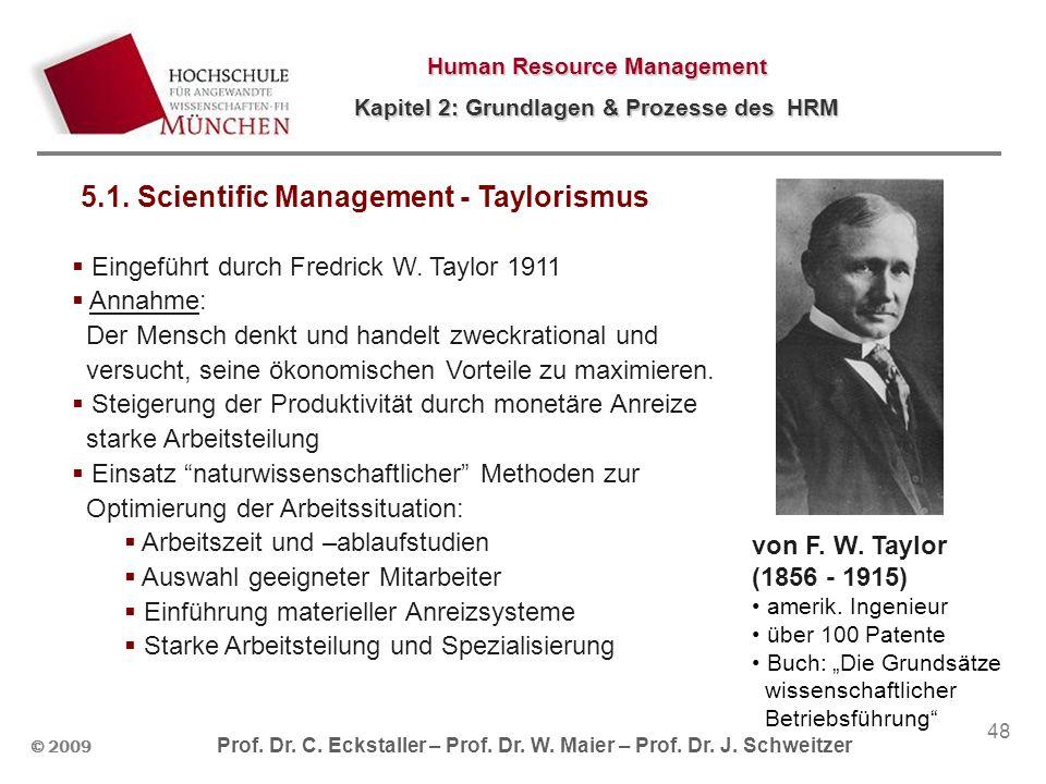 © 2009 Prof. Dr. C. Eckstaller – Prof. Dr. W. Maier – Prof. Dr. J. Schweitzer Human Resource Management Kapitel 2: Grundlagen & Prozesse des HRM 48 vo