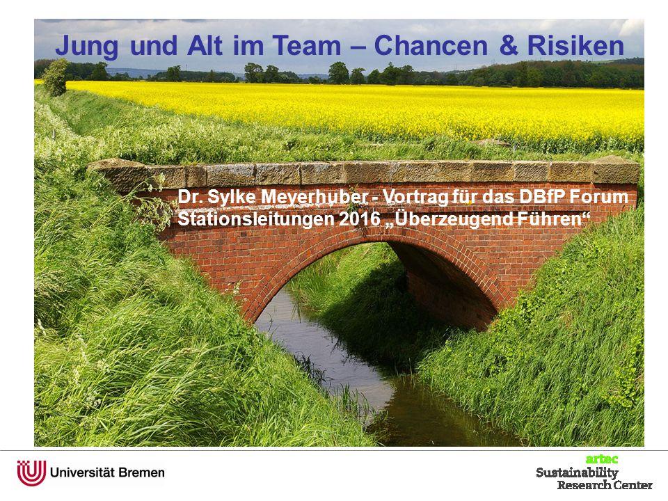 """Dr. Sylke Meyerhuber - Vortrag für das DBfP Forum Stationsleitungen 2016 """"Überzeugend Führen"""" Jung und Alt im Team – Chancen & Risiken"""