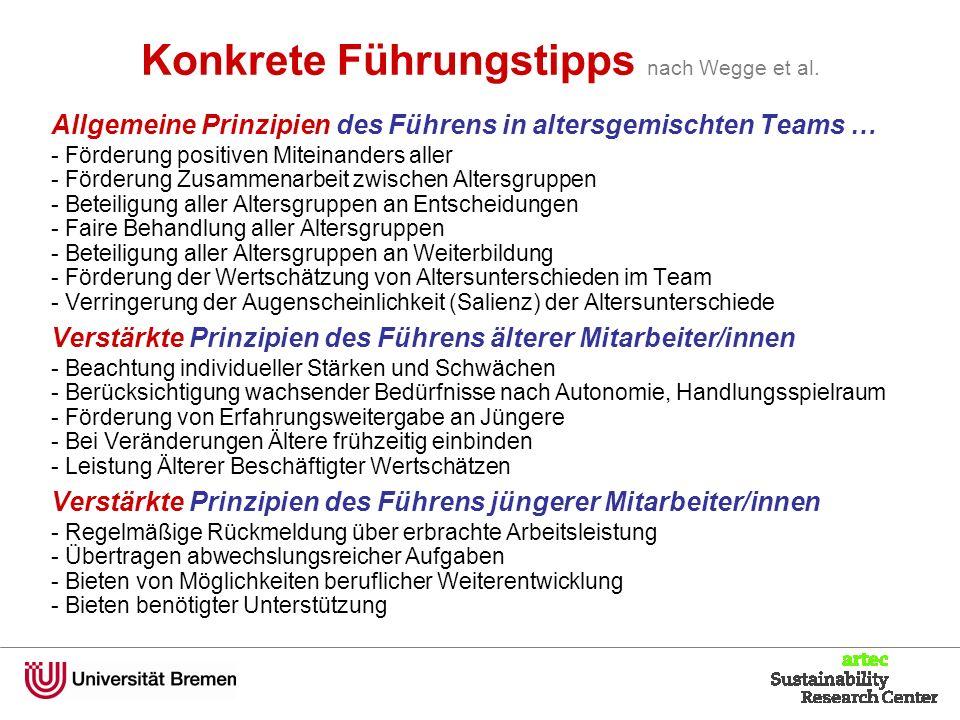 Konkrete Führungstipps nach Wegge et al.