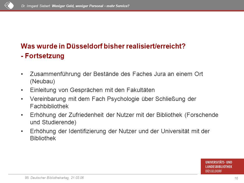 95. Deutscher Bibliothekartag, 21.03.06 Dr.