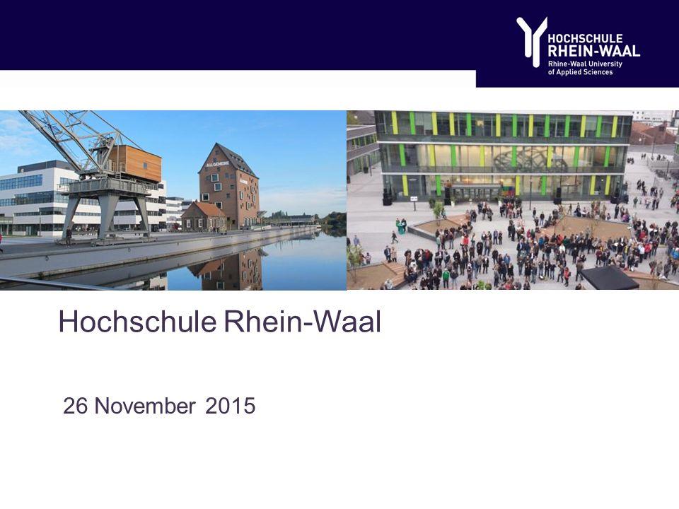Hochschule Rhein-Waal 26 November 2015