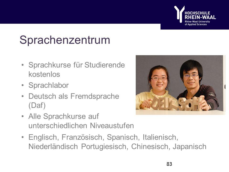 Sprachenzentrum Sprachkurse für Studierende kostenlos Sprachlabor Deutsch als Fremdsprache (Daf) Alle Sprachkurse auf unterschiedlichen Niveaustufen 83 Englisch, Französisch, Spanisch, Italienisch, Niederländisch Portugiesisch, Chinesisch, Japanisch