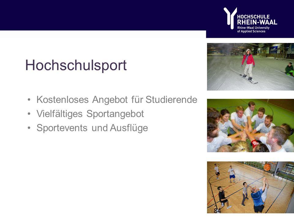 Hochschulsport Kostenloses Angebot für Studierende Vielfältiges Sportangebot Sportevents und Ausflüge 84