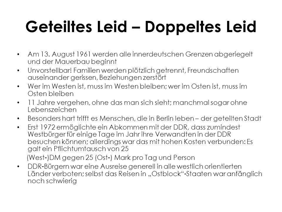 Geteiltes Leid – Doppeltes Leid Am 13.