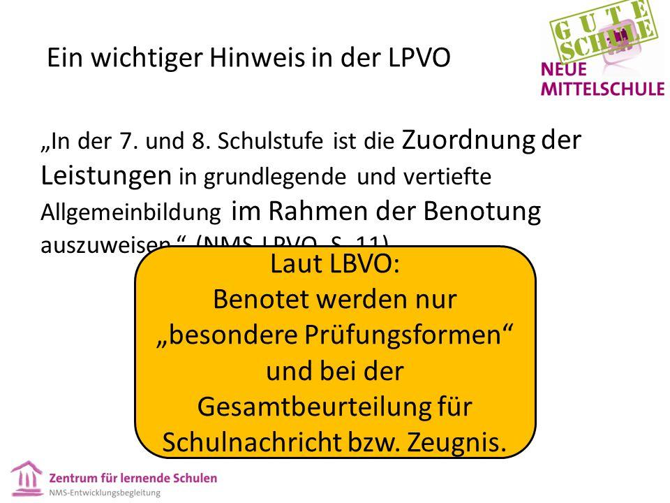 """Ein wichtiger Hinweis in der LPVO """"In der 7. und 8."""
