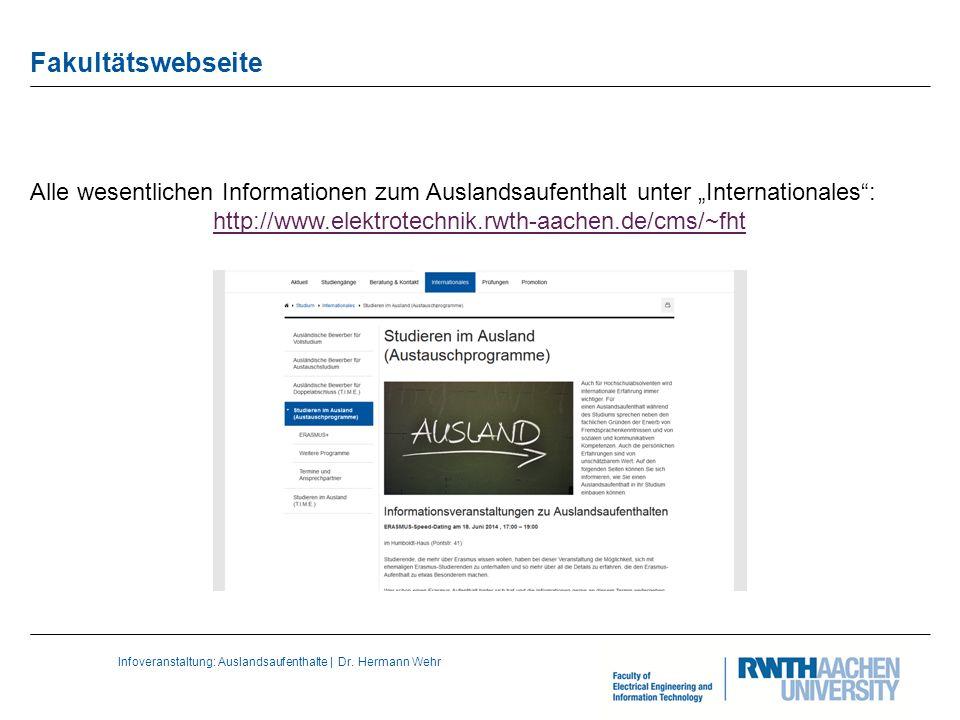 Infoveranstaltung: Auslandsaufenthalte | Dr.