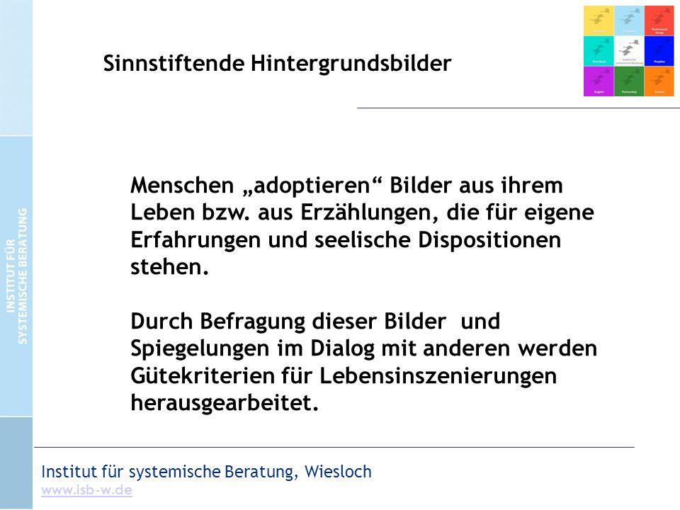 """Institut für systemische Beratung, Wiesloch www.isb-w.de Menschen """"adoptieren Bilder aus ihrem Leben bzw."""