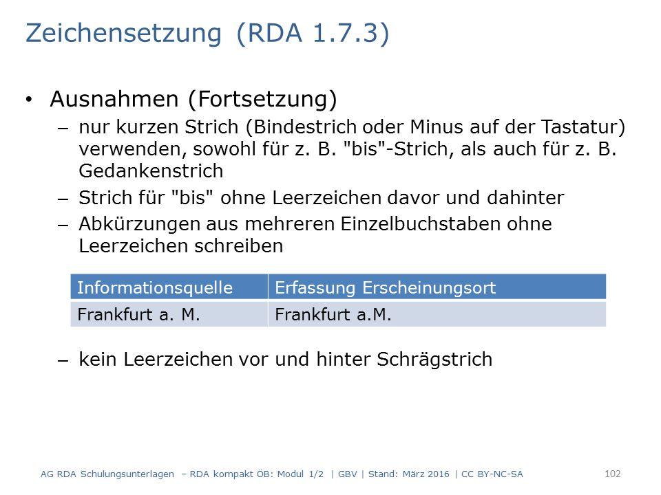 Ausnahmen (Fortsetzung) – nur kurzen Strich (Bindestrich oder Minus auf der Tastatur) verwenden, sowohl für z.