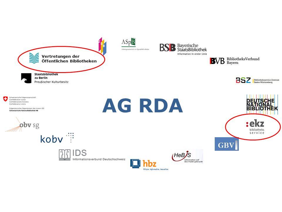 AG RDA Vertretungen der Öffentlichen Bibliotheken